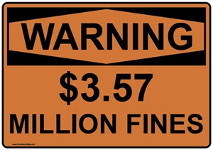 $3.57 million in fines