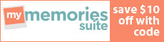 Use coupon code STMMMS48333  to save $10 on My Memories Suite