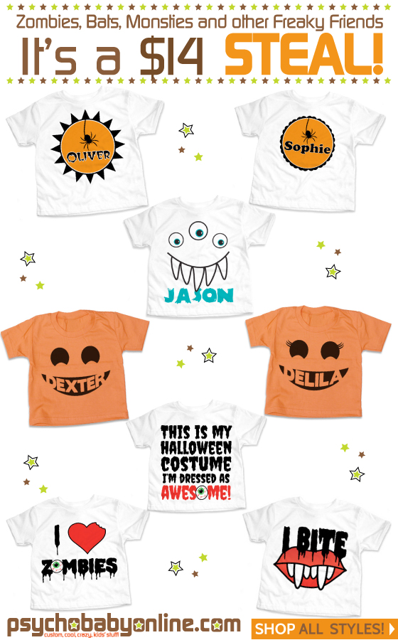 Halloween Tees for Baby and Kids