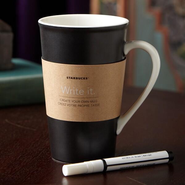 how to draw on a ceramic mug