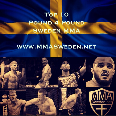 TOP 10 P4P SWEDEN MMA