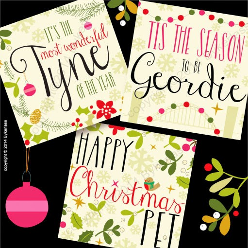 Geordie Christmas Cards Tyne of The Year Newcastle Phrases