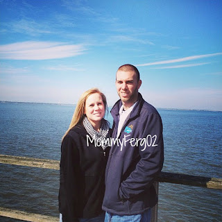 Brian and I on the pier!