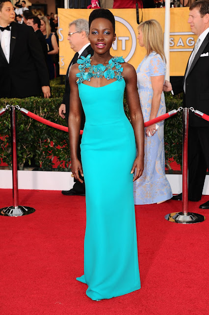 Lupita Nyong'o in Gucci for the 2014 SAG Awards