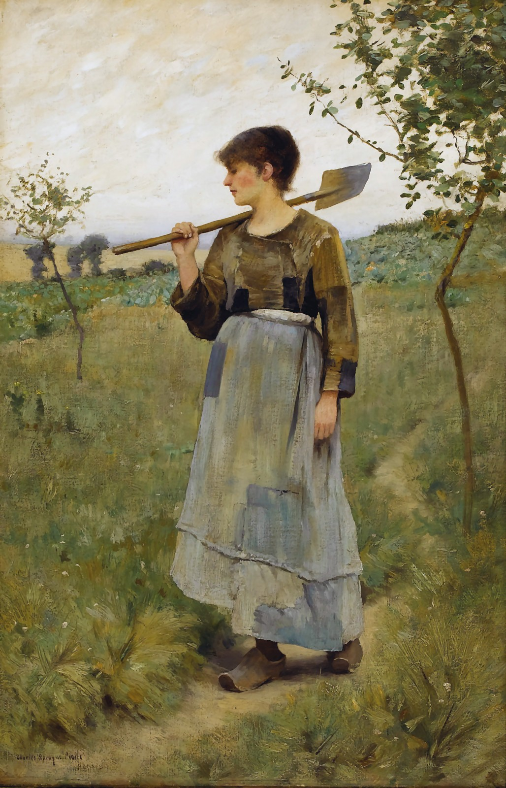 Charles  Sprague  Pearce  home  from  the  fields