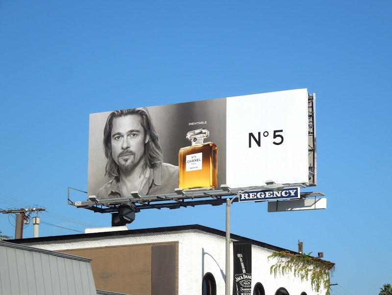 Chanel No5 Brad Pitt fragrance billboard