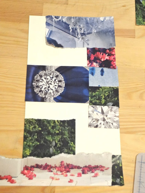 piecing together a collage