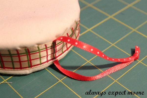Christmas Ornaments From Empty Ribbon Spools