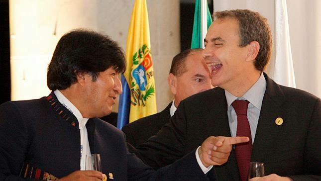Reunión zapatero evo morales 2015