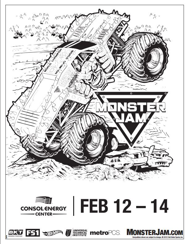 coloring pages trucks monster jam - photo#22