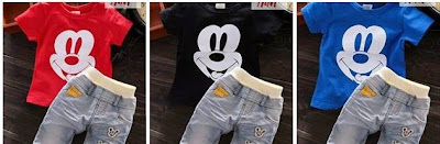 baju set mickey