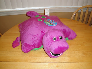 barney pillow pets review holiday gift guide frugal family tree. Black Bedroom Furniture Sets. Home Design Ideas