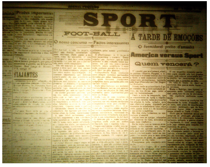 MEMÓRIAS ESMERALDINAS: América 6x1 Sport em julho de 1918