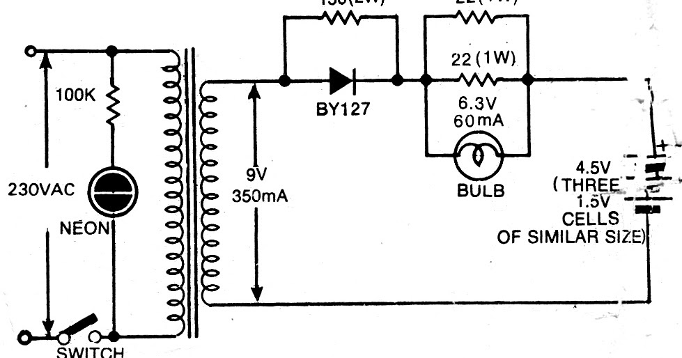 dry cell recharger circuit