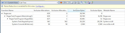 Visual Studio 2010 Performance Wizard Results - Trimmed Call Tree