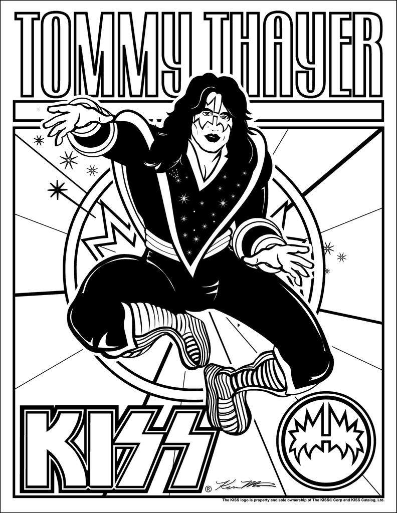 Adult Top Kiss Band Coloring Pages Gallery Images cute kiss band images