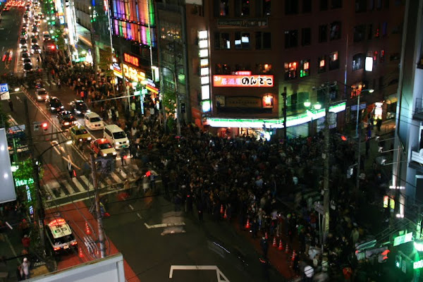 Roppongi, Tokyo, on New Year's Eve