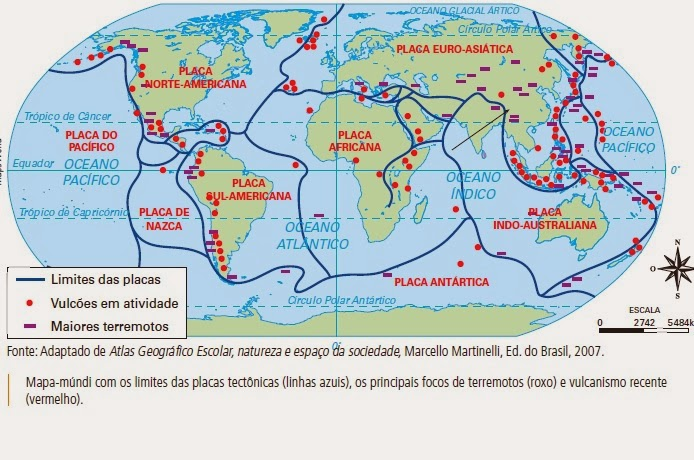 SalaGeo : Por que no Brasil não tem vulcões nem terremotos ?