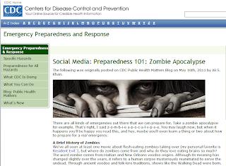 Zombie Apocalypse Preparedness 101