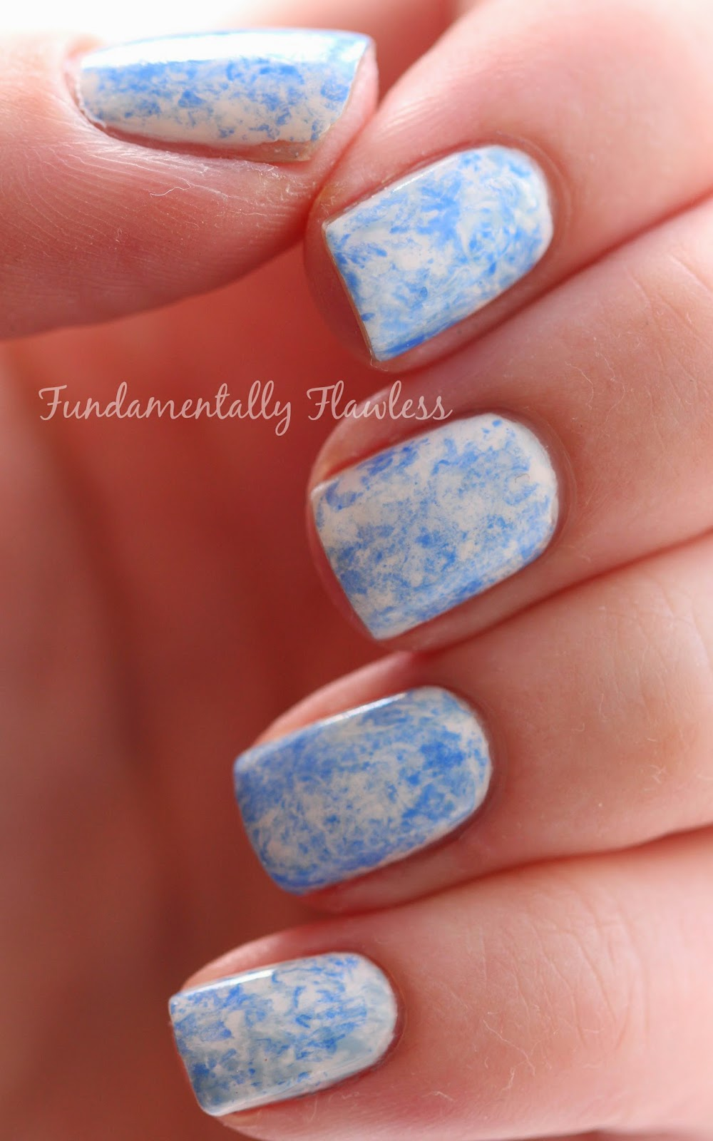 Barry M Blue Saran Wrap Bubble Wrap nails