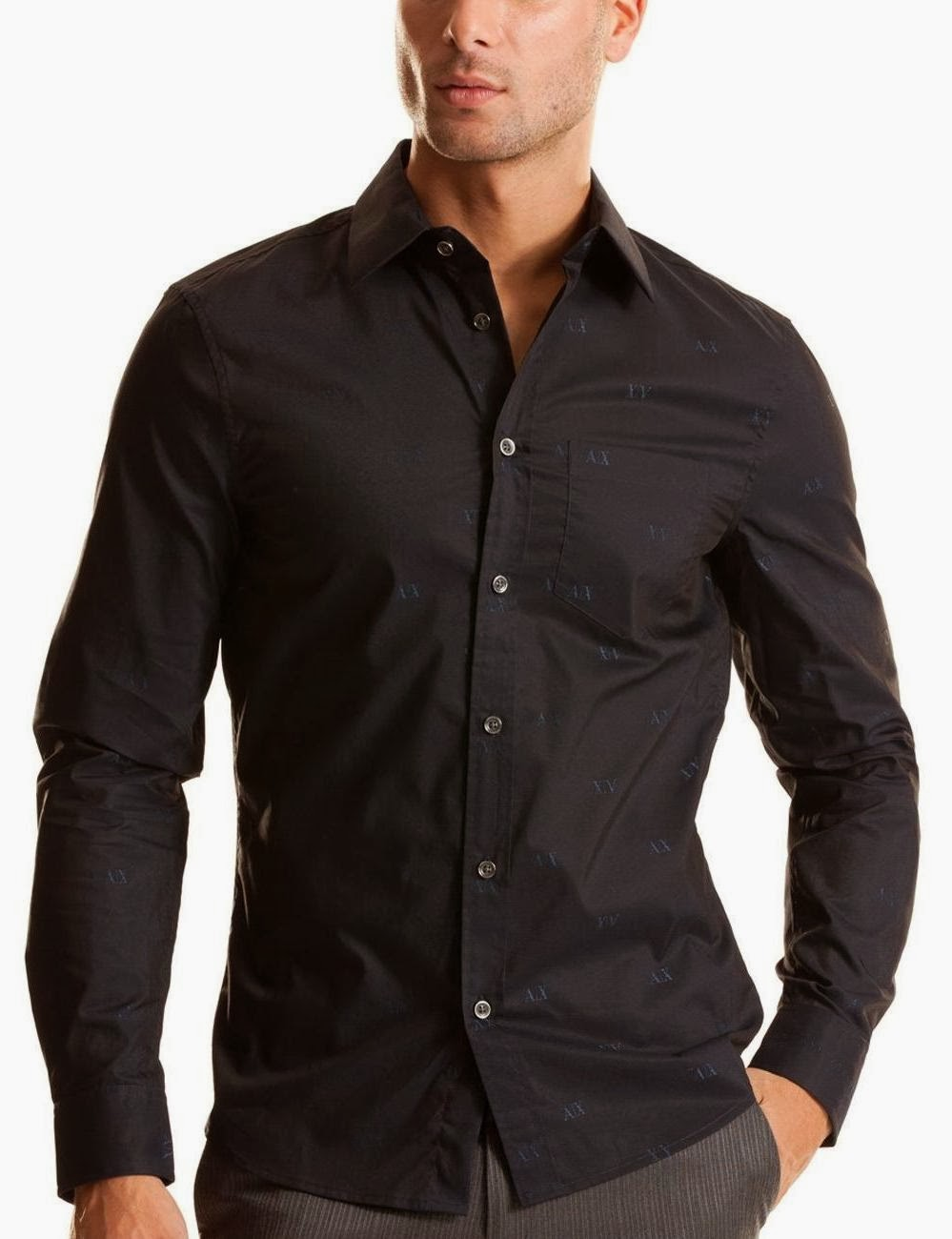 Black Long Sleeve Shirt in Midnight