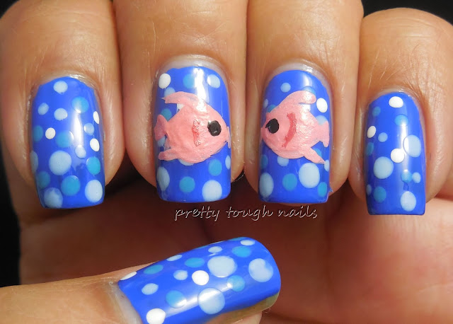 #31DC2013 Polka Dots With Kissing Fish