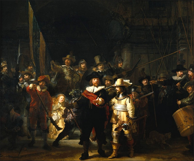 De Nachtwacht The nightwatch on lined