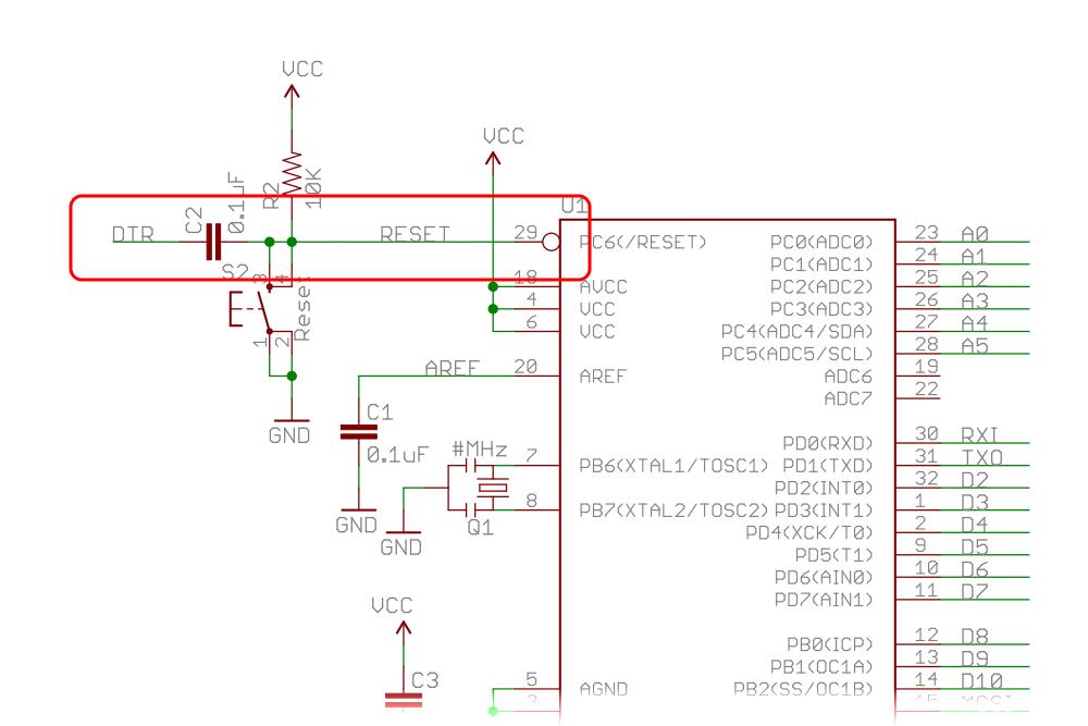 Схема Pro Mini cо схемой