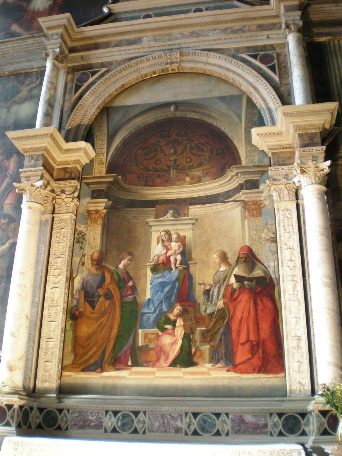 Venezia: La Madonna col bambino, santi ed un angelo misicante: venezia-emilia.blogspot.it/2011/02/la-madonna-col-bambino-santi-ed...