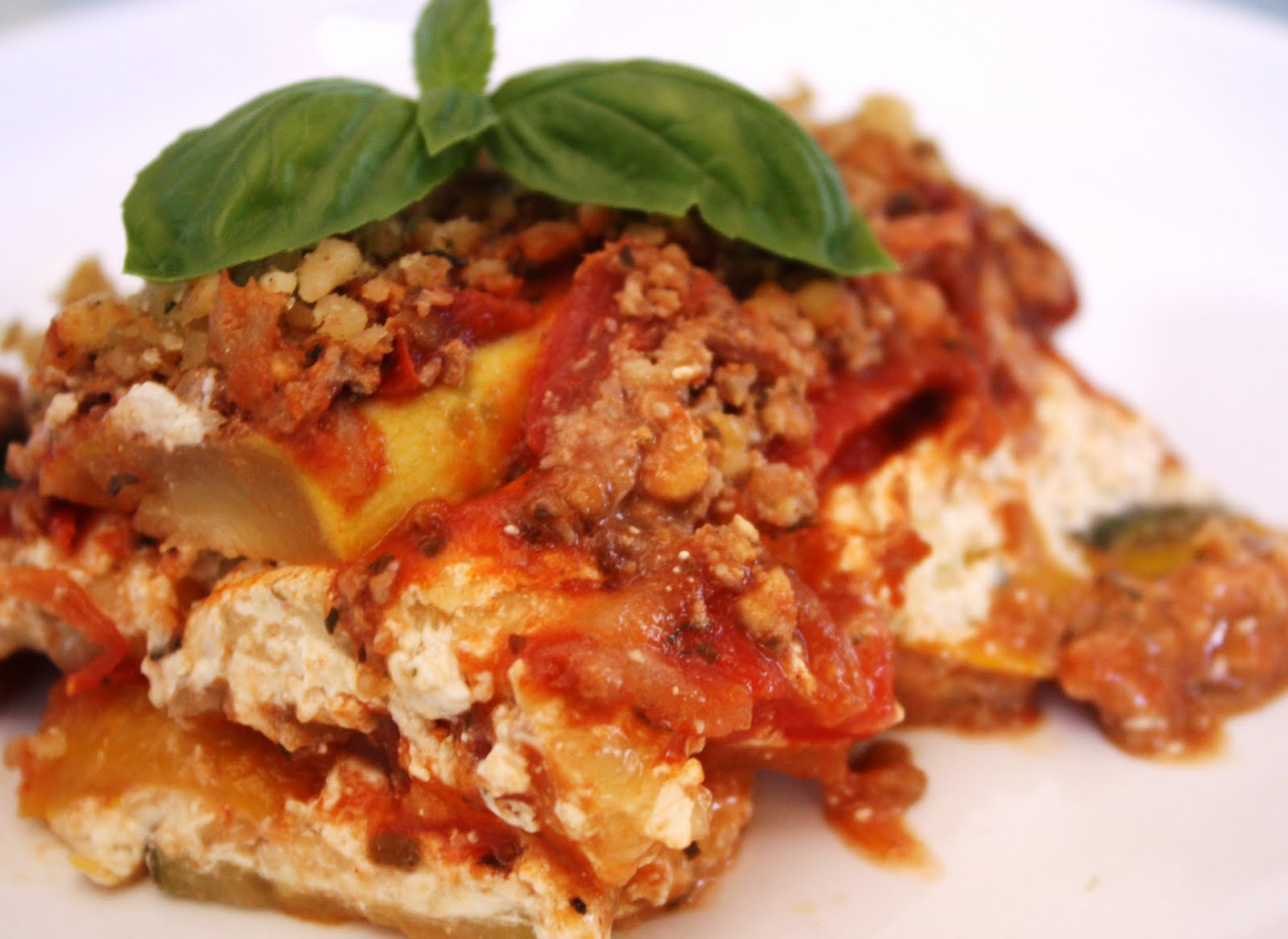 Veganess Eats: 'NO Noodle' Zucchini Lasagna (with Roasted Red Pepper ...