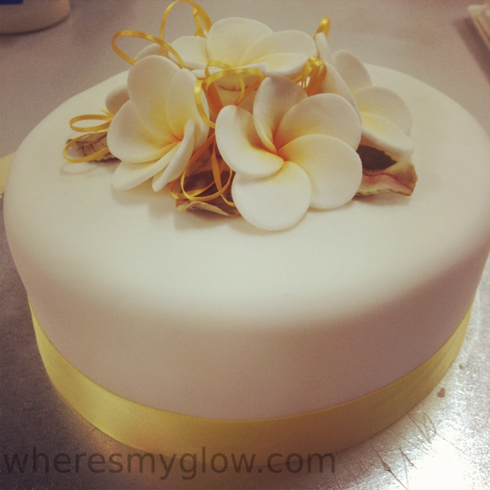 Frangipani Cake Wedding