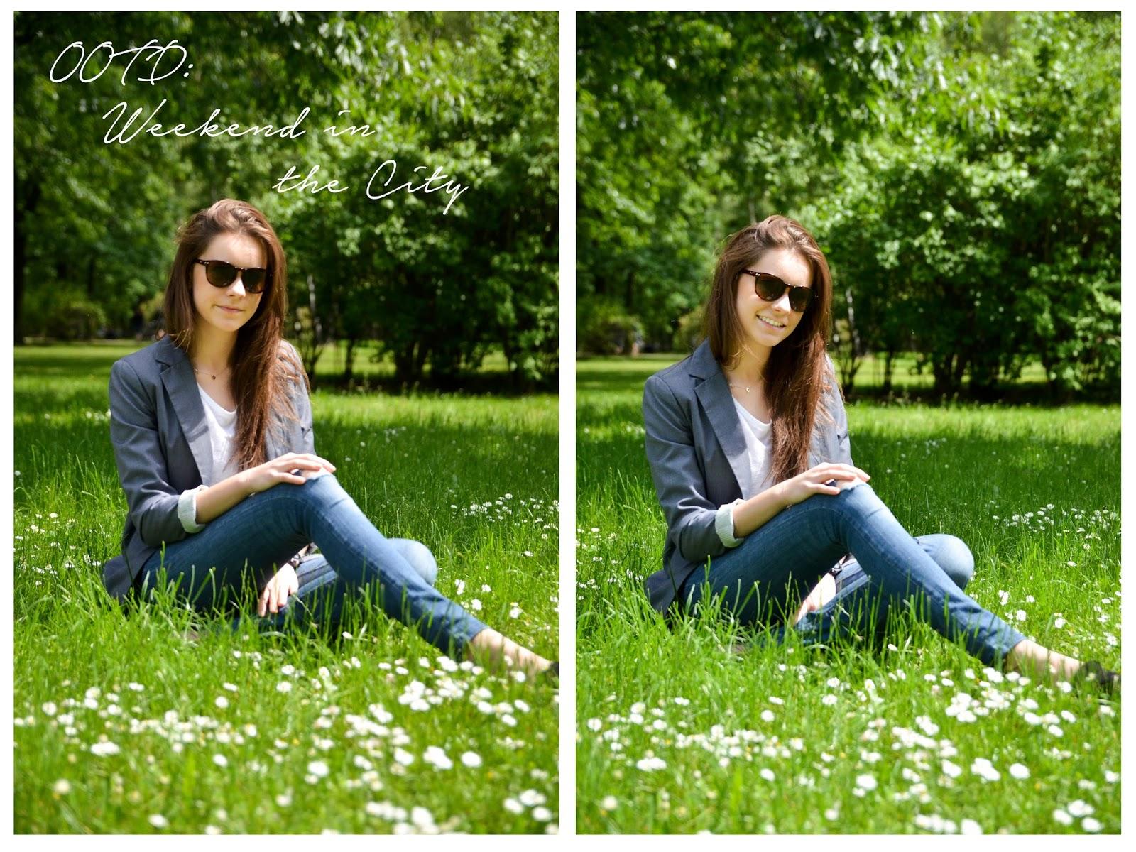 strój dnia, ubranie, kwiaty, trawa