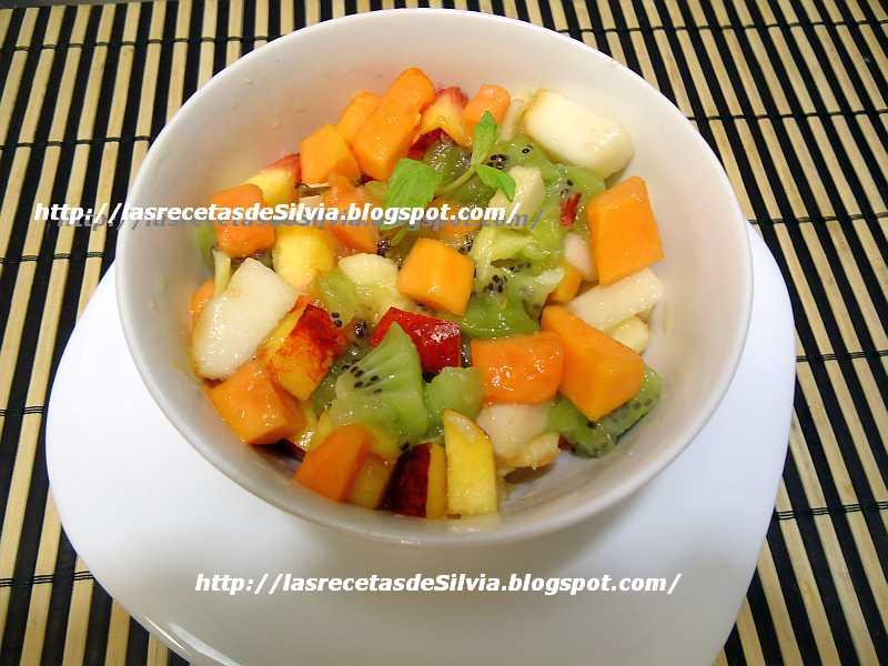 Ensaladas de Frutas Colombianas Ensalada de Frutas Con Papaya