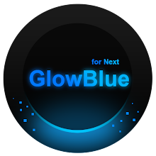 Next Launcher Theme GlowBlue!!