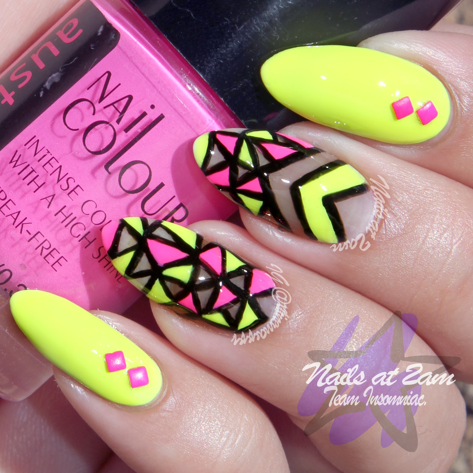 Nails At 2am: TUTORIAL: Neon Cut-Out Nails
