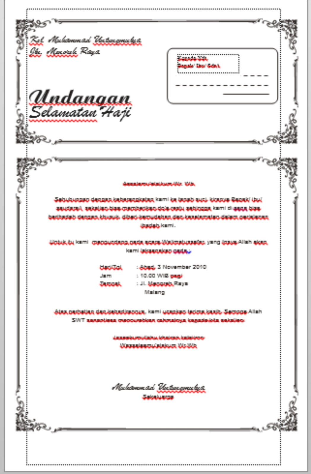 home design creatif: download undangan tasyakuran Haji