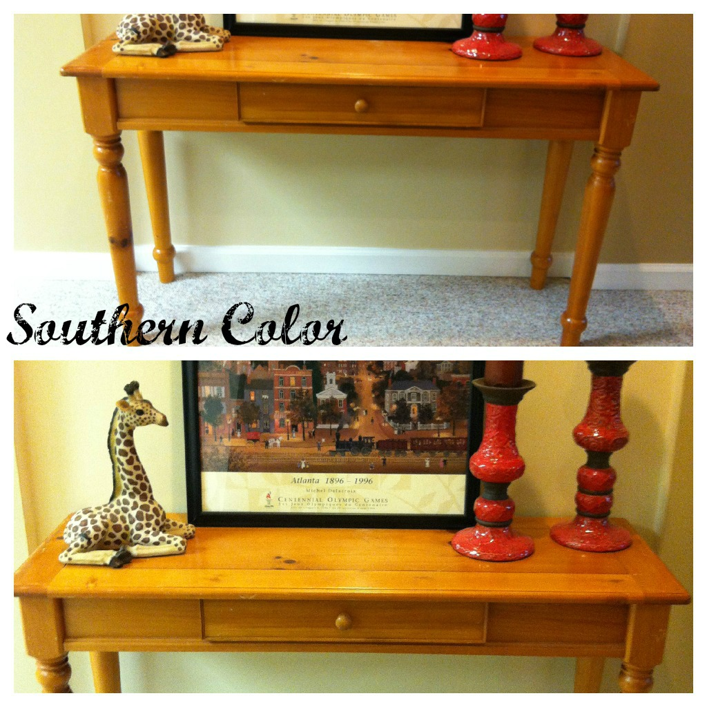 Southern color sofa table makeover for Sofa table makeover
