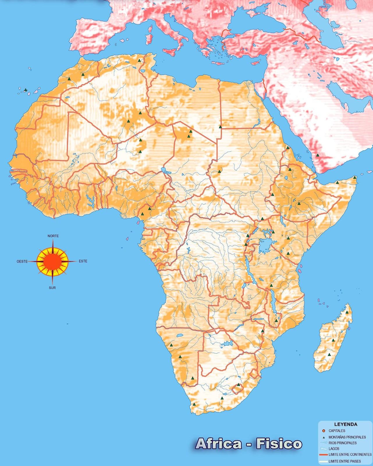 AFRICA  MAPAS DE