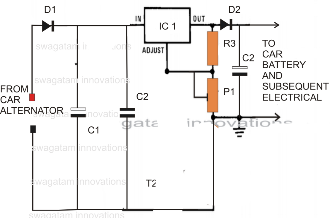 Car Voltage Regulator Circuit Diagram on Simple Series Circuit Diagram