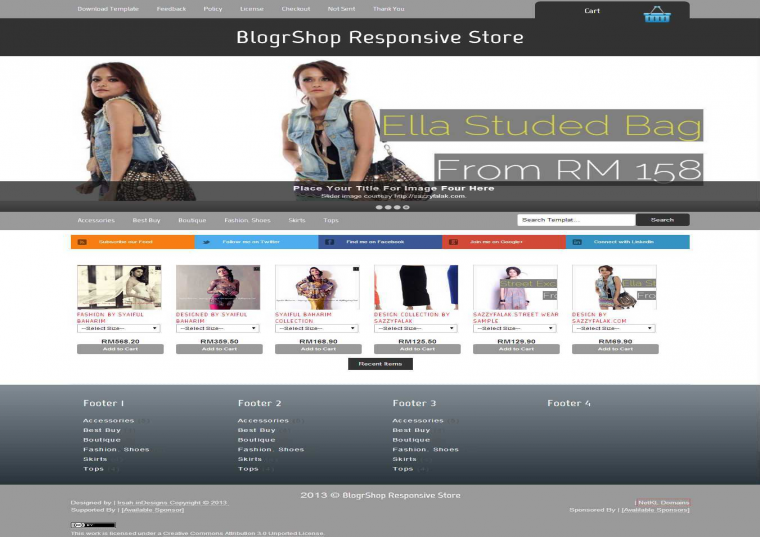 BlogrShop Ecommerce ekart Blogger Template Free Download