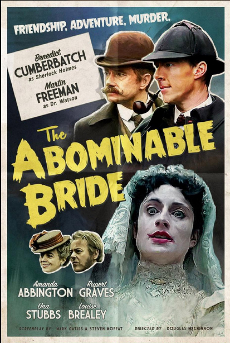 Sherlock the abominable bride retro poster