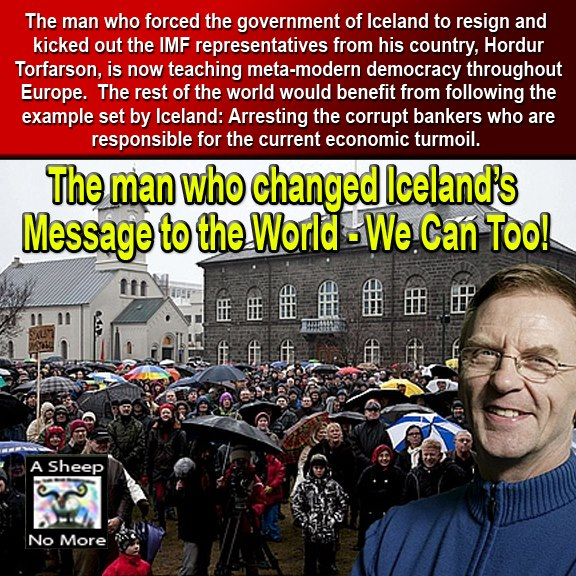 Arrest the Banksters! From the man that started the revolution in Iceland  Hodar+Torfarson