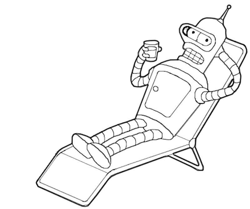 printable-bender-relax-coloring-pages