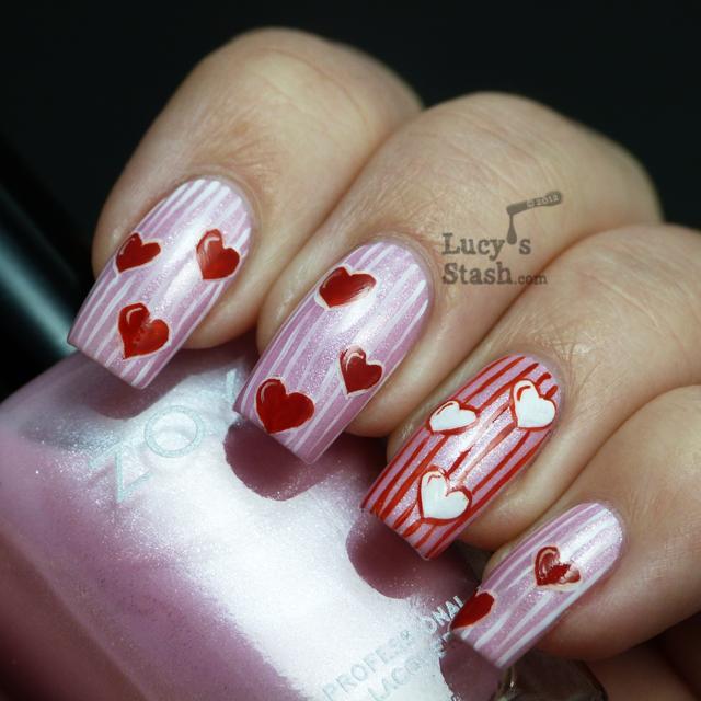 Lucy's Stash - Valentine's Day manicure