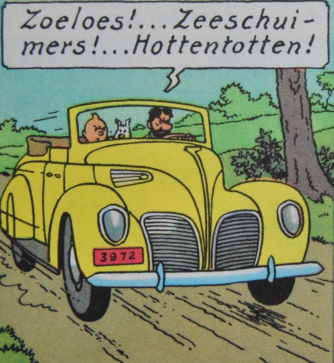 King in yellow de auto 39 s van kuifje in miniatuur de 7 for Schepper van de stripfiguur kuifje