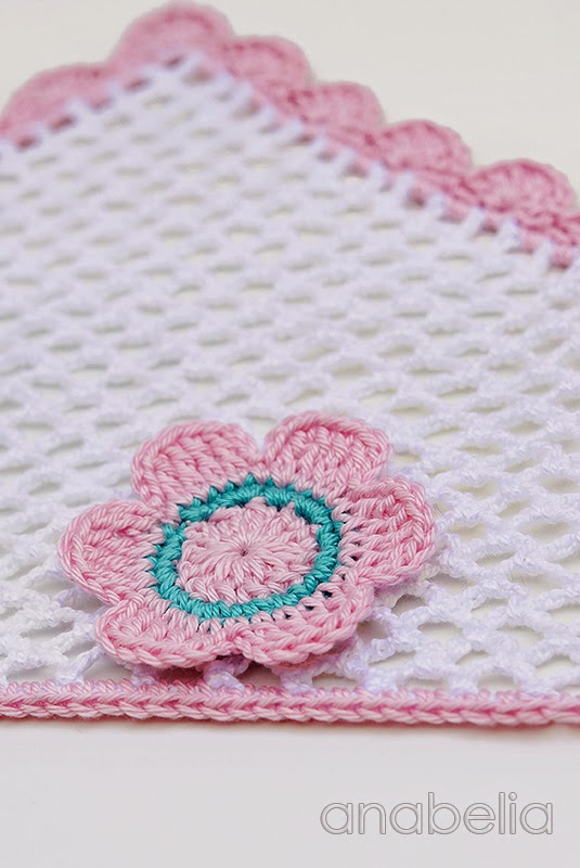 Crochet baby headscarf by Anabelia