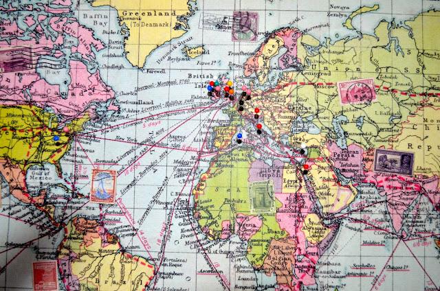 D.I.Y Pinboard Map