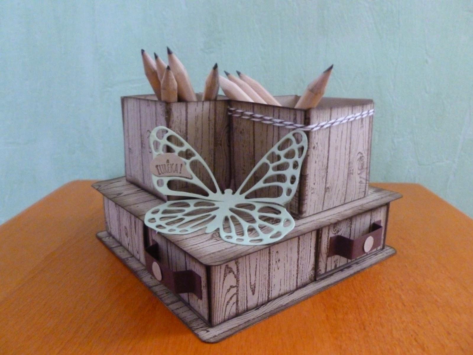 souriscrap pots crayons sur boite 4 tiroirs. Black Bedroom Furniture Sets. Home Design Ideas