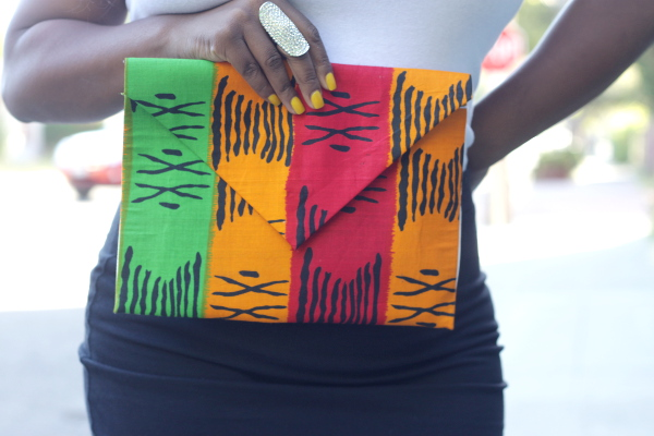 Black Plus Size Fashion Bloggers, Tribal Print DIY Clutch