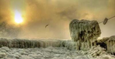 Mar Negro, fotos, congelado, 2012
